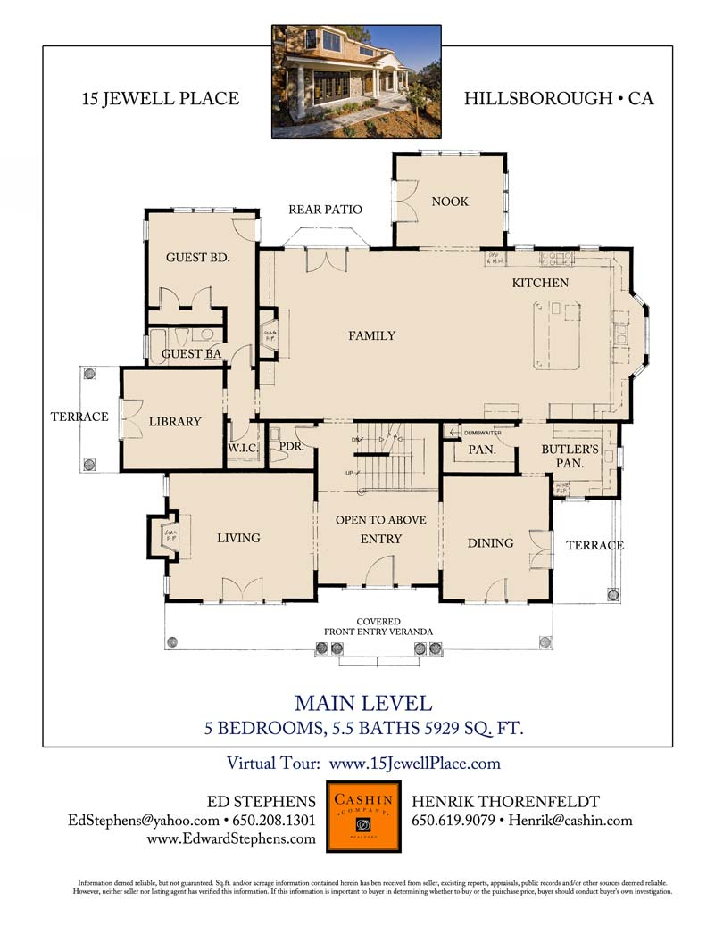 15 jewell place brand new custom home hillsborough ca for 15 dunham place floor plans